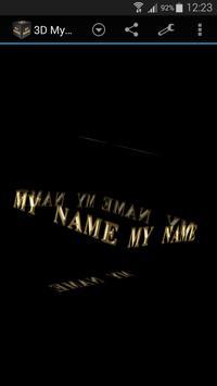 3D My Name Live Wallpaper apk screenshot