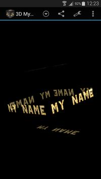 3D My Name Live Wallpaper screenshot 2