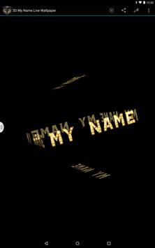 3D My Name Live Wallpaper apk screenshot