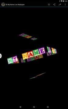 3D My Name Live Wallpaper Screenshot 5