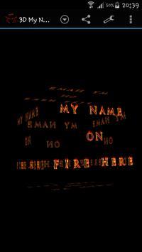3D My Name On Fire Wallpaper apk screenshot