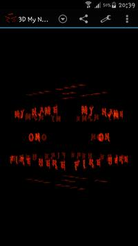 3D My Name On Fire Wallpaper poster