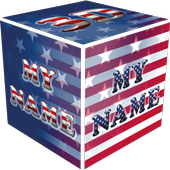 3D My Name Patriotic USA LWP icon