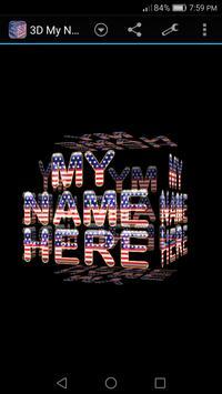 3D My Name Patriotic USA LWP poster