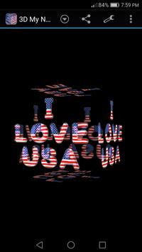 3D My Name Patriotic USA LWP screenshot 1