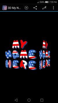 3D My Name Patriotic USA LWP screenshot 4