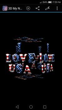 3D My Name Patriotic USA LWP screenshot 5