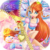 Winx Zipper Lock Screen Club icon