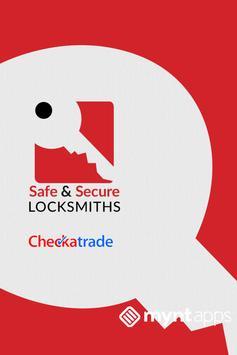 Safe and Secure Locksmiths poster