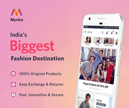 Myntra Online Shopping App poster