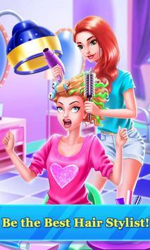 Hair Stylist Fashion Salon ❤ Rainbow Unicorn Hair poster
