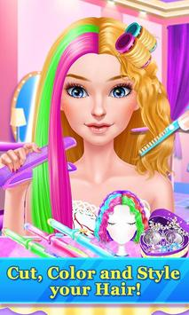 Hair Stylist Fashion Salon ❤ Rainbow Unicorn Hair apk screenshot