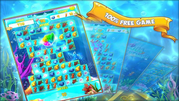 Aqua Adventures - Match 3 Game imagem de tela 2