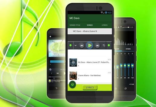 Fuera Llueve - Mc Davo(Musica) apk screenshot