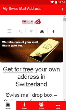 My Swiss Mail Address poster
