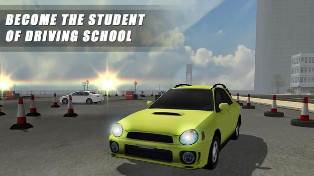 Extreme Driving School Test 3D poster