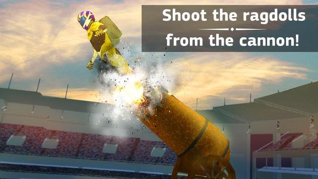 Ragdoll Cannon Shooting Stunt apk screenshot
