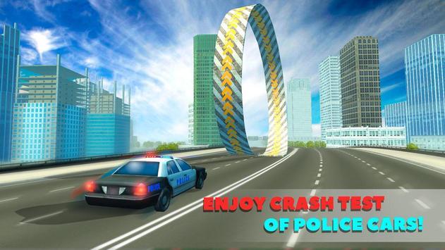 Police Car Crash Test Sim 3D poster