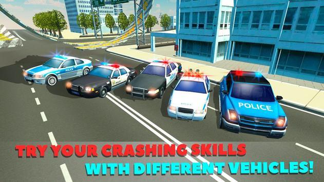 Police Car Crash Test Sim 3D screenshot 11