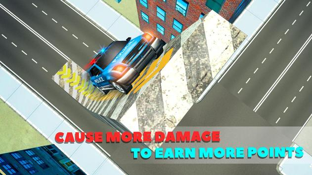 Police Car Crash Test Sim 3D screenshot 2