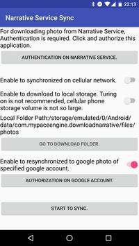 Narrative Service Sync apk screenshot
