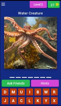 Water Animal Quiz (Sea Animal) screenshot 2