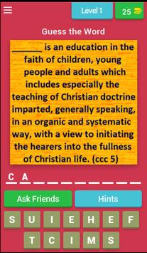 Catechism Quiz poster