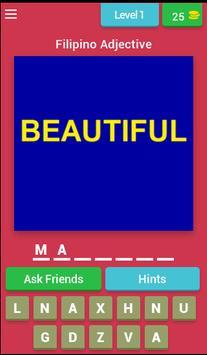 Pinoy Adjective Quiz (Filipino Quiz Game) poster