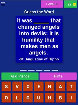 Guess the Word (Saint Quotes) apk screenshot