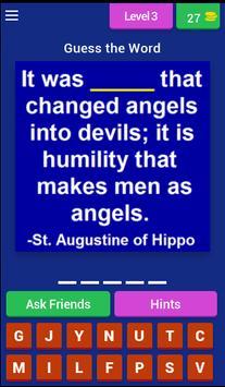 Saint Quotes (Catholic Game) apk screenshot