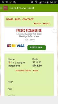 Fresco Pizza Basel poster