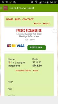 Fresco Pizza Basel apk screenshot