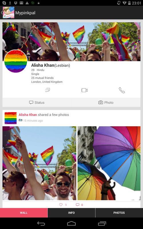 ... Mypinkpal - Gay & Lesbian (LGBT) Social Video Chat apk screenshot ...