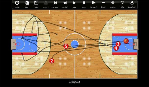 Basketball Play Designer and Coach Tactic Board imagem de tela 3