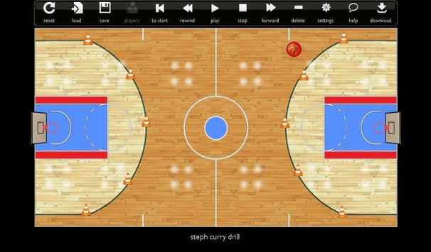 Basketball Play Designer and Coach Tactic Board imagem de tela 5