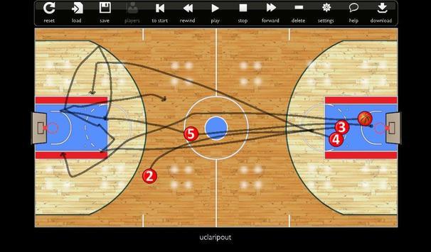 Basketball Play Designer and Coach Tactic Board imagem de tela 6