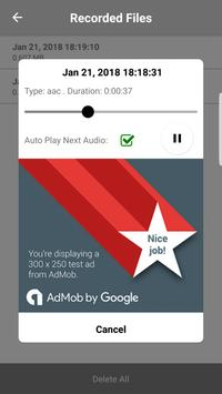 Voice Activated Recorder screenshot 3