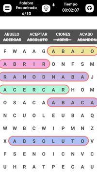 Word Search Spanish screenshot 1