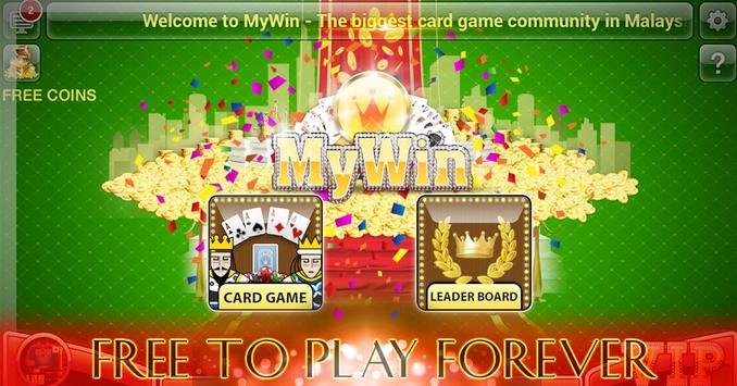 MyWin: Big 2, Poker, Baccarat poster
