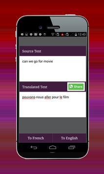 French English Translator screenshot 1