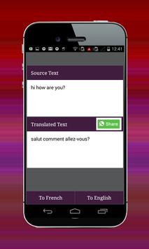 French English Translator apk screenshot