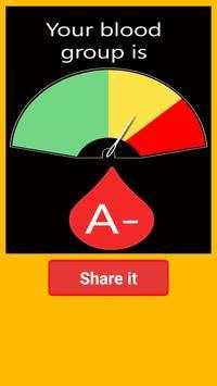 Blood Group Test Prank poster