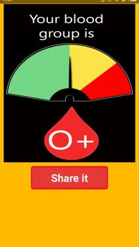 Blood Group Test Prank apk screenshot