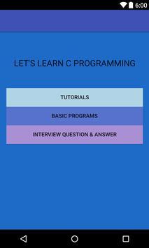 C Programming - for beginners poster