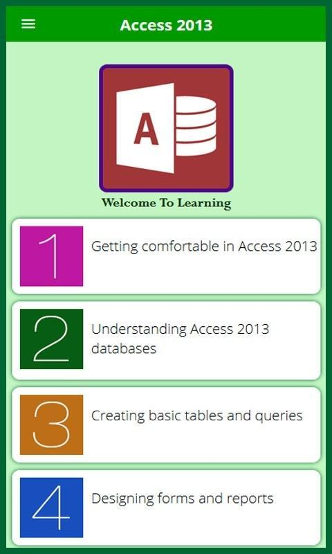 Learn for Access 2013 Tutorial for Android - APK Download