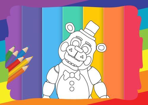 Coloring Book Five Nights Kids Poster Apk Screenshot
