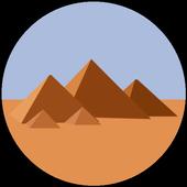 Egypt pyramids satellite icon