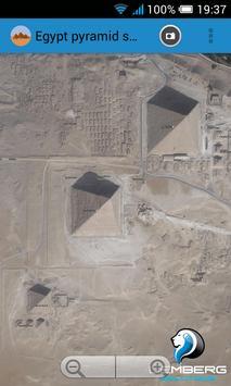 Egypt pyramids satellite poster
