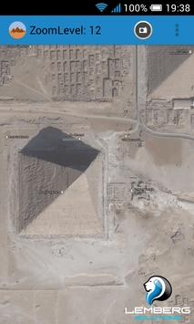 Egypt pyramids satellite screenshot 2