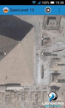 Egypt pyramids satellite screenshot 3